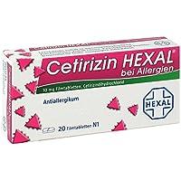 Preisvergleich für Cetirizin Hexal bei Allergien, 20 St. Filmtabletten