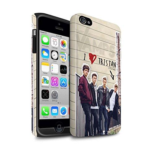 Officiel The Vamps Coque / Matte Robuste Antichoc Etui pour Apple iPhone 4/4S / Pack 5pcs Design / The Vamps Journal Secret Collection Tristan