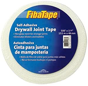 "Saint Gobain FDW6583-U Fiba Tape Self Adhesive Drywall Joint Tape, 500' Length x 1-7/8"" Width, White by Saint-Gobain Technical Fabrics (English Manual)"
