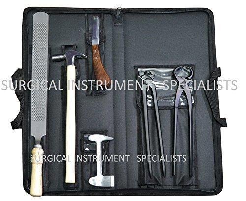 SURGICAL INSTRUMENT SPECIALISTS Huf Hufschmied Set Premium-Qualität Huf Set mit Reißverschluss Geldbörse mit Optionen - option 2