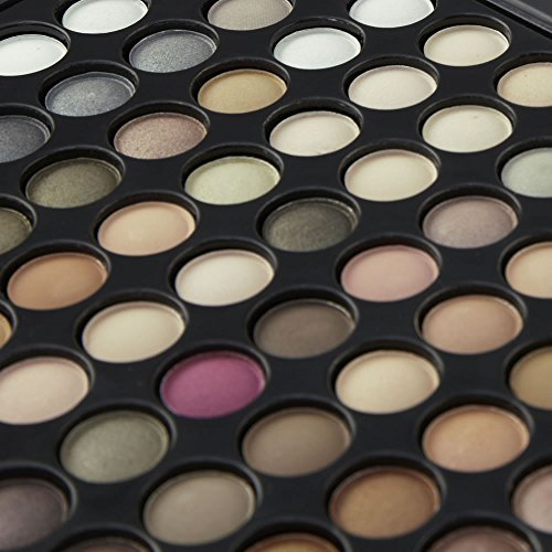 LaRoc � 88 Colour Eyeshadow Palette Makeup Kit Set Box with Mirror - Natural Tones