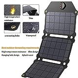 Solare Caricabatterie Accumulatore di Energia con 3 Pannelli Solari Impermeabile Portatile Pieghevole Batteria per Tutti Gli Smartphone, attività All'aperto