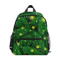 FOLPPLY Kids School Bag Tropical Fir Tree Pattern with Stars Light Preschool Backpacks Children Travel Daypack for Boys Girls