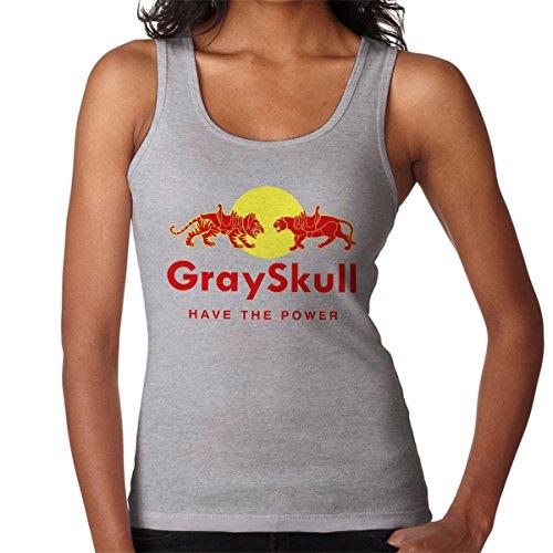 Have The Power Heman Women's Vest Heather Grey