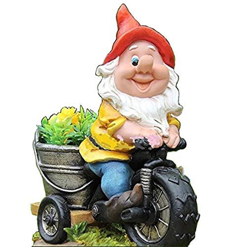 Unbekannt Enano de jardín NF 15156-1, en Bicicleta, tamaño XL, 37cm de...