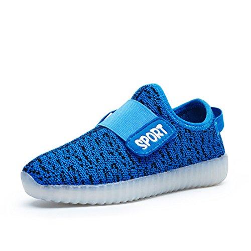 Escuro Azul Estilo Respirável Brilhantes E Usb Levou Tênis Sapatos Dorkasde Para Meninas Sapato Sneakers Cobrando Meninos Brilhante Confortável Das T1Uw8xP