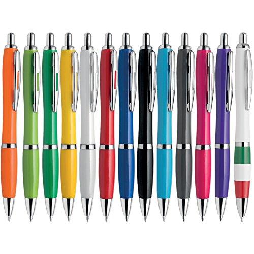 100 pezzi Penne personalizzabili personalizzate con nome logo o slogan Gadget promozionali - SUNRISE PD209 - Stampa 1 colore