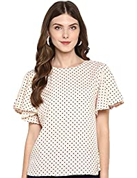 indietoga Women Polka Dots Printed Casual Tops (Small to Plus Size Tops)