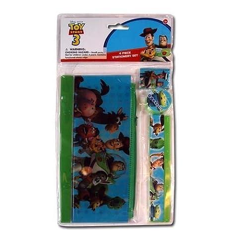 Toy Story 3 Nahlinsen-Set für Schreibwaren, Bleistift, Lineal, Radiergummi, Spitzer