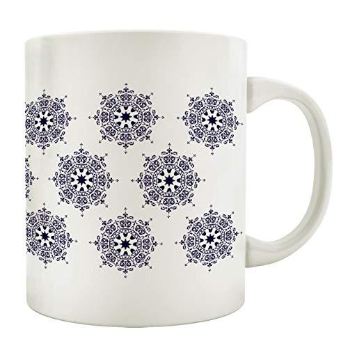 Interluxe Tasse Kaffeebecher Mandala Ibiza Style * 2 * Boho Stil Bohemian Chic Teetasse