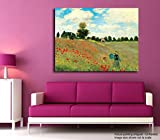 Tamatina Claude Monet Canvas Painting - Les Coquelicots - Poppies - Impression Art - Home Décor - Paintings For Living Room - Painting for Bedroom - Famous Artist Painting