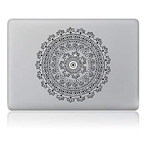Cinlla® Kreise Laptop AufKleber Notebook Schutzfolie Haut aus Vinyl Skin Sticker Decal für Apple Macbook Air 11