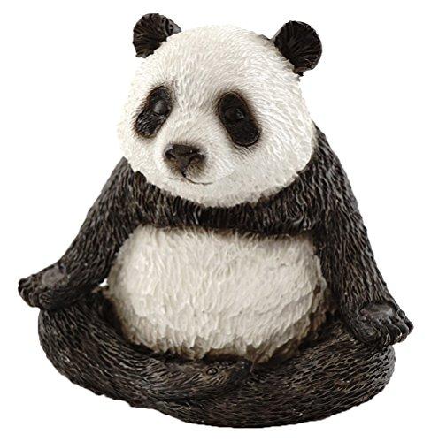 Top Kollektion Miniatur-Fairy Garden und Terrarium niedliche Yoga panda-meditation Lotus Pose Figur