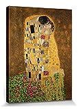 1art1 70743 Gustav Klimt - Der Kuß II Leinwandbild Auf Keilrahmen 80 x 60 cm