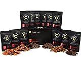 (Lot de 12) CARNASSIER ENSEMBLE Classico - La boîte de viandes et de snacks de poisson de Calsway