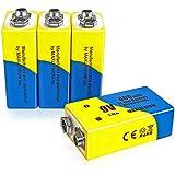 maxlithium 9v 800mAh Li-ion Rechargeable Battery 4 Packs