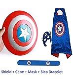 #9: Fancydresswale Captain America Shield with Accessories for kids (Shield+Cape + Bracelet)