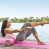 Barbara Becker Fitness-Set - Miami Fit - Yoga Set mit Faszienrolle, Yogamatte, Fitness DVD (120 min. in deutsch) und Tragetasche - Farbe pink