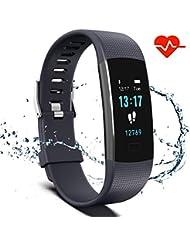 Montre Connectée Femme Homme Enfant Bracelet Connecté Smartwatch Podometre Cardiofrequencemetre Etanche IP67 Trackers d'activité Cardio Chronomètres pour Android iOS iPhone
