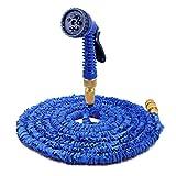 CMCL Kreative 100 Fuß Schlauch, Gartenschlauch Längste Erweiterbar & Flexible Magische Schlauchtrommel Mit Massivem Messing Armaturen Und 7-Muster Sprühdüse Weit