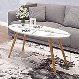 lyf Nordic Modernes Wohnzimmer Sofa Kleiner Beistelltisch, Haushalt Couchtisch Kleine Wohnung Couchtisch Ovaler Tisch 100X50x48cm