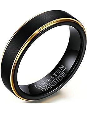 Gnzoe Schmuck Herren Ringe Edelstahl Wolframcarbid Herrenringe Matte Poliert Wolfram Ring Trauringe Freundschaftsringe...