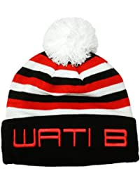 Wati B - Bonnet Homme Stripe Beanie - Black/Red