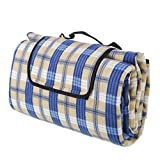 ALLWA XXX-Large 175x200cm Classic Plaid 2nd Generation Outdoor Blanket - Water Proof Backing Picnic Rug - Easy To Fold And Portable Beach Mat- Family Perfect For Beach, Travel, Picnic Camping