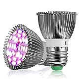 GreenSun LED Lighting Pflanzenlampe E27 7W LED Pflanzenlicht Wachstumslampe Tageslicht Pflanzenleuchte für Garten Gewächshaus Zimmerpflanzen, Blüte, Blumen, Gemüse (2er Pack)