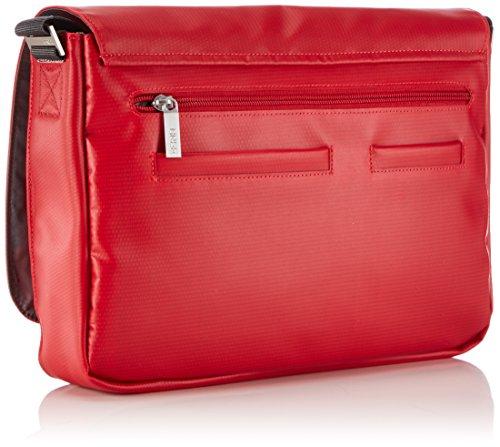 BREE Punch 62 83900062 Unisex-Erwachsene Schultertaschen 34 x 24 x 8 cm (B x H x T) Rot (red 152)