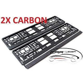 2 x Kennzeichenhalter / Nummernschildhalter / Kennzeichenhalterung NEU & OVP CARBON Design