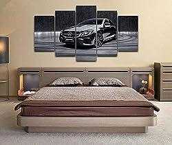 Loveygg Leinwandbild 5 Teilig Kunstdruck Modern Wandbilder Wanddekoration Design Wand Bild Gemälde Poster Mode Geschenke - Mercedes-Amg E 53 4Matic Autoposter,150x80cm