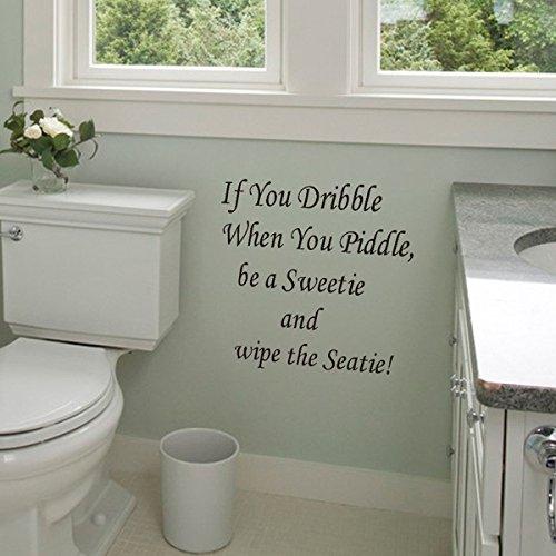 Adesivi murali, Fai da te Adesivo da parete per bagno Decorazione Sedile WC Deca da parete impermeabile Decalcomanie Camera da letto Decor Alta qualità