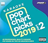 Zoom Karaoke CD+G - Pop Chart Picks 2019 (Part 2) - Double CD+G with 40 Chart Hits