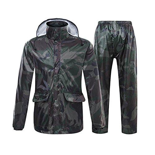 SK Studio Unisex 2 Stück Reflektierend Wasserdicht Regenmantel Regenjacke Tarnung Packbar Leicht Regenanzug