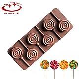 Best Ice Pop Moisissures - Tocoss (TM) 1pc 6 trous ronds au chocolat Review