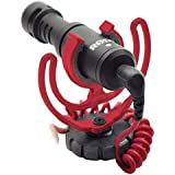 Rode VideoMicro Compact On-Camera Microphone with Rycote Lyre Shock Mount, Black