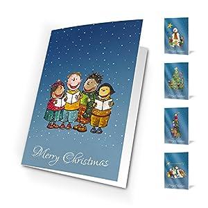 Tarjetas de navidad winter games.