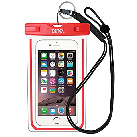 EOTW Housse étanche, Certifiée IPX8 pour Téléphone de taille égale et inférieure à 6'', argent, écran solaire bâton, carte/ID etc, idéal pour natation, la plage, pêche, la randonnée (Rouge, 6 INCH)