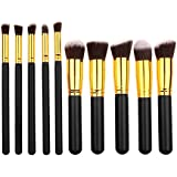 Koolmate 10Pcs/Set Makeup Brush Set Premium Cosmetics Foundation Blending Blush Eyeliner Face Powder Brush Makeup...