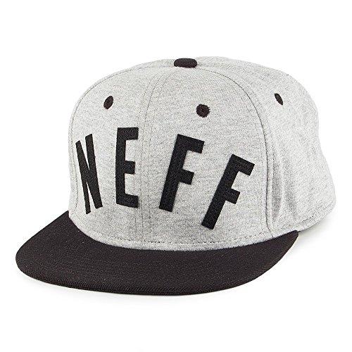 Neff Arc Snapback Cap Mütze - Grau-Schwarz - Einstellbar (Arc Einstellbare)