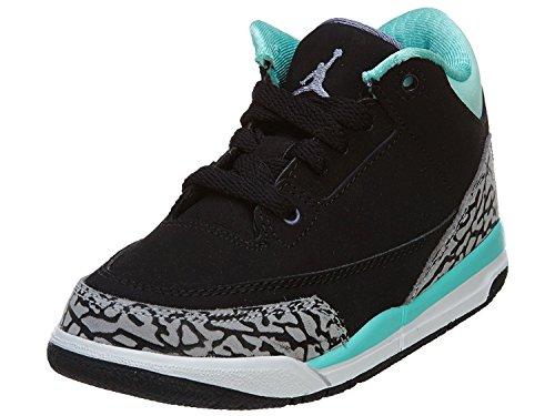 Air Jordan 3 Cool Grey ([441141-015] Air Jordan Pre-School Girls Air Jordan 3 Retro (PS) Pre-School Shoes Cool Grey/Blue Glow-Ntrl Grey)