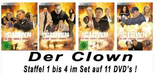 Der Clown - Die Serie Staffel 1-4 im Set [11DVDs]