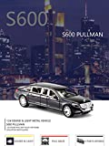 #6: Magicwand® 1:24 Scale Die-Cast Mercedes Maybach S 600 Pullman Pull Back Sedan with Blinking Headlights