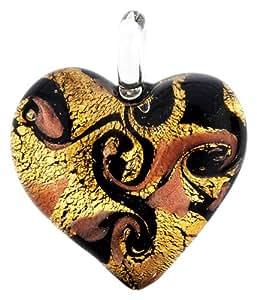 Antica Murrina - Passione - KP002A52/4 : Pendentif Femme Verre de Murano - Coeur