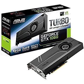 ASUS TURBO-GTX1060-6G GeForce GTX 1060 6GB GDDR5 - Tarjeta gráfica (GeForce GTX 1060, 6 GB, GDDR5, 192 bit, 7680 x 4320 Pixeles, PCI Express 3.0)