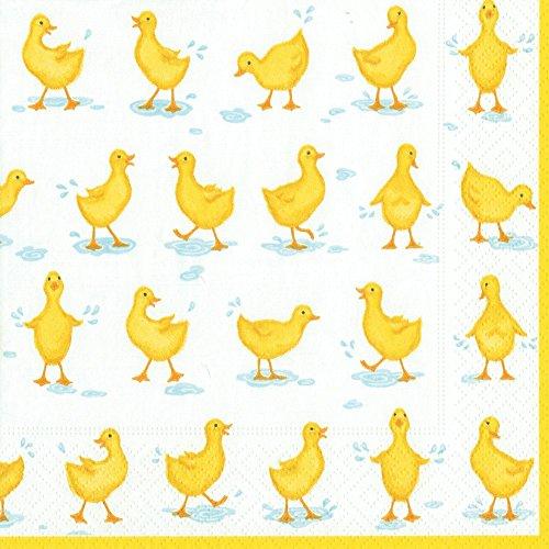 Caspari Cocktail-Serviette Cocktail Ducks Yellow Caspari Cocktail-servietten