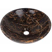Portoro pietra marmo ciotola rotonda Bagno Lavandino diametro 300mm (B0062)