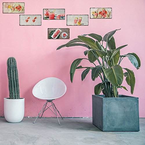 Weaeo Wassermelone Lebensmittel Obst Getränke Lustiges Bild Wallpaper Wandaufkleber Küche Wohnzimmer Home Decor Kinder Schlafzimmer Einrichtung