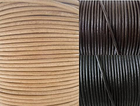 AURORIS - leather cord round Ø 1.5 mm - length / colour selectable - variant: 2m / natural